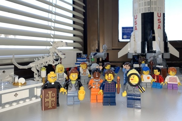 Meghan Sullivan's LEGO versions of her NDIAS colleagues